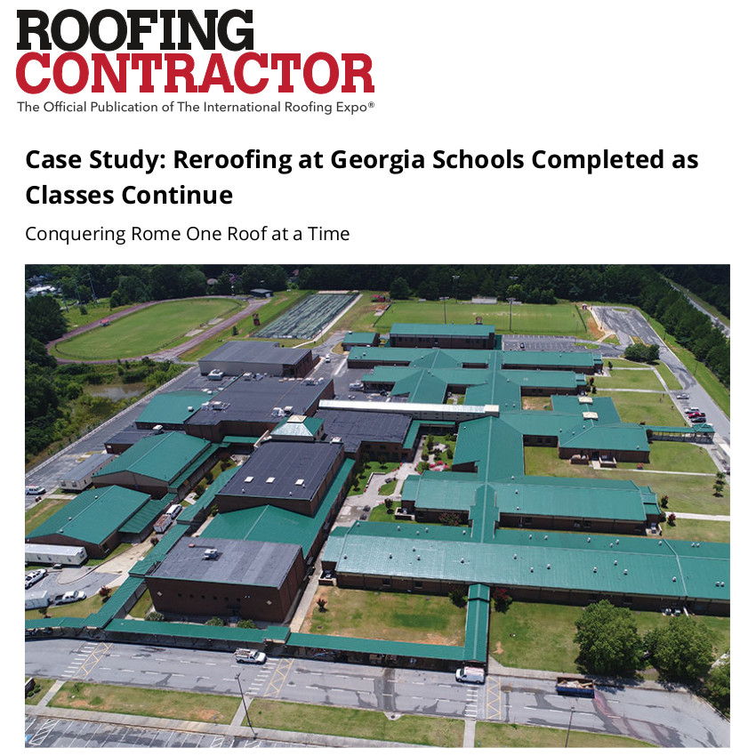 Case Study: Reroofing at Gerogia Schools Completed as Classes Continue